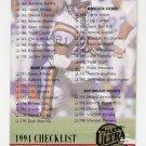 1994 Ultra Football #323 Checklist