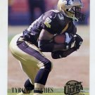 1994 Ultra Football #212 Tyrone Hughes - New Orleans Saints