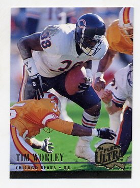 1994 Ultra Football #043 Tim Worley - Chicago Bears