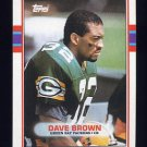 1989 Topps Football #377 Dave Brown - Green Bay Packers