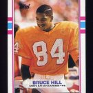 1989 Topps Football #332 Bruce Hill RC - Tampa Bay Buccaneers