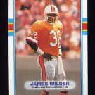 1989 Topps Football #329 James Wilder - Tampa Bay Buccaneers
