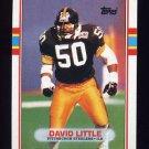 1989 Topps Football #316 David Little - Pittsburgh Steelers NM-M