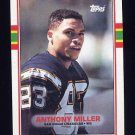 1989 Topps Football #313 Anthony Miller RC - San Diego Chargers