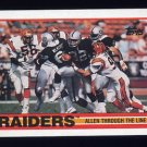 1989 Topps Football #264 The Los Angeles Raiders Team