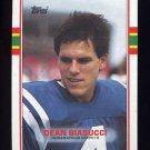 1989 Topps Football #212 Dean Biasucci - Indianapolis Colts