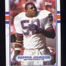 1989 Topps Football #176 Pepper Johnson - New York Giants