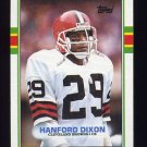 1989 Topps Football #145 Hanford Dixon - Cleveland Browns