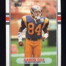 1989 Topps Football #136 Aaron Cox RC - Los Angeles Rams
