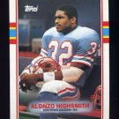 1989 Topps Football #096 Alonzo Highsmith - Houston Oilers