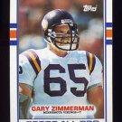 1989 Topps Football #077 Gary Zimmerman - Minnesota Vikings