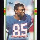 1989 Topps Football #054 Chris Burkett - Buffalo Bills