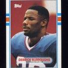 1989 Topps Football #051A Derrick Burroughs - Buffalo Bills NM-M