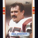 1989 Topps Football #030 Max Montoya - Cincinnati Bengals