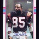1989 Topps Football #029 Tim McGee - Cincinnati Bengals