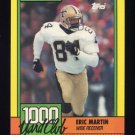 1990 Topps Football 1000 Yard Club #23 Eric Martin - New Orleans Saints