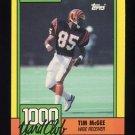 1990 Topps Football 1000 Yard Club #15 Tim McGee - Cincinnati Bengals