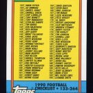 1990 Topps Football #498 Checklist 133-264