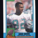 1990 Topps Football #324 Andre Brown - Miami Dolphins