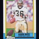1990 Topps Football #244 Rueben Mayes - New Orleans Saints