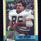 1990 Topps Football #234 Hoby Brenner - New Orleans Saints NM-M