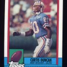 1990 Topps Football #226 Curtis Duncan - Houston Oilers