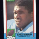 1990 Topps Football #220 Alonzo Highsmith - Houston Oilers