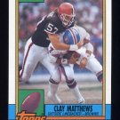 1990 Topps Football #172 Clay Matthews - Cleveland Browns