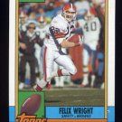 1990 Topps Football #169 Felix Wright - Cleveland Browns