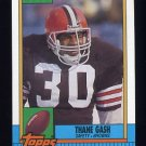 1990 Topps Football #161 Thane Gash RC - Cleveland Browns