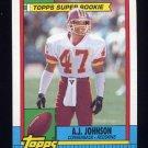 1990 Topps Football #124 A.J. Johnson - Washington Redskins