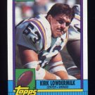 1990 Topps Football #102 Kirk Lowdermilk - Minnesota Vikings