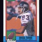 1990 Topps Football #061 Odessa Turner RC - New York Giants