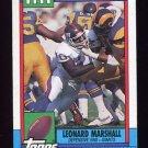 1990 Topps Football #055 Leonard Marshall - New York Giants