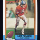 1990 Topps Football #034 David Treadwell - Denver Broncos