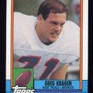 1990 Topps Football #033 Greg Kragen - Denver Broncos