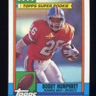 1990 Topps Football #032 Bobby Humphrey - Denver Broncos
