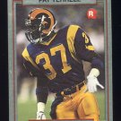 1990 Action Packed Rookie Update Football #63 Pat Terrell RC - Los Angeles Rams