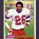 1981 Topps Football #452 Raymond Clayborn - New England Patriots Vg