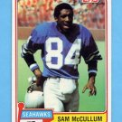 1981 Topps Football #419 Sam McCullum - Seattle Seahawks