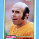 1981 Topps Football #373 Garo Yepremian - Tampa Bay Buccaneers