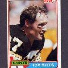 1981 Topps Football #366 Tom Myers - New Orleans Saints