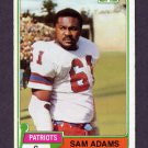 1981 Topps Football #352 Sam Adams - New England Patriots