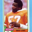 1981 Topps Football #341 David Lewis - Tampa Bay Buccaneers