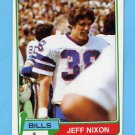 1981 Topps Football #313 Jeff Nixon - Buffalo Bills