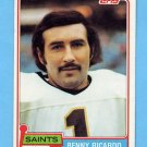 1981 Topps Football #306 Benny Ricardo - New Orleans Saints