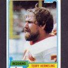 1981 Topps Football #299 Terry Hermeling - Washington Redskins