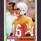 1981 Topps Football #253 Tom Blanchard - Tampa Bay Buccaneers