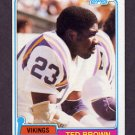 1981 Topps Football #247 Ted Brown - Minnesota Vikings