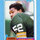 1981 Topps Football #228 George Cumby - Green Bay Packers